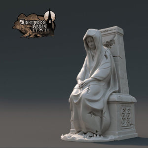 The Lady Shannon Statue 28mm 32mm Wightwood Abbey Wargaming Terrain D&D, DnD, Pathfinder, SW Legion, Warhammer 40k