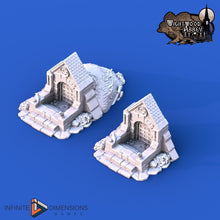 Load image into Gallery viewer, Crypt Entrance 28mm 32mm Wightwood Abbey Wargaming Terrain D&D, DnD, Pathfinder, SW Legion, Warhammer 40k