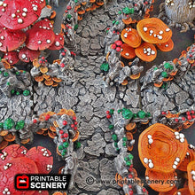 Load image into Gallery viewer, Shroom Grotto Tunnels - 15mm 28mm 32mm Clorehaven and the Goblin Grotto Mushroom Wargaming Terrain Scatter D&D DnD Pathfinder Warhammer 40k