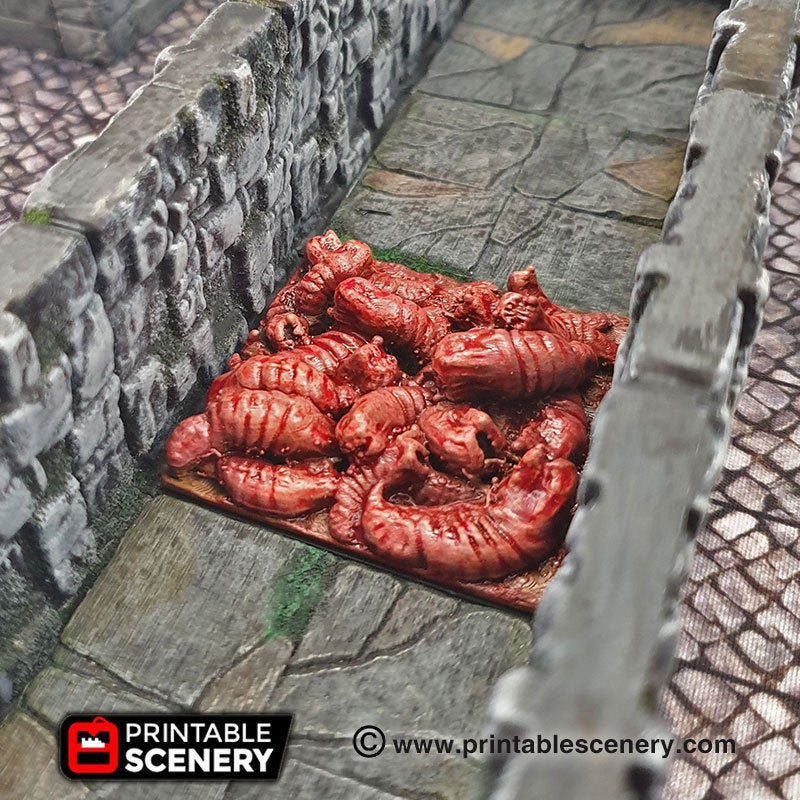 Deadly Floor Carnivorous Worm Trap - 28mm 32mm Clorehaven Goblin Grotto Wargaming Terrain Scatter D&D DnD Pathfinder Warhammer 40k