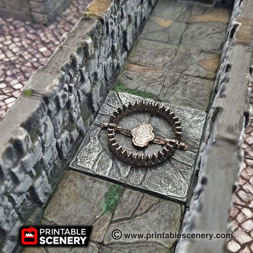Deadly Floor Bear Trap - 28mm 32mm Clorehaven Goblin Grotto Wargaming Terrain Scatter D&D DnD Pathfinder Warhammer 40k