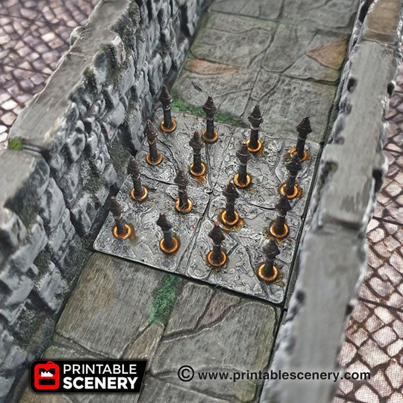 Deadly Floor Spear Trap - 28mm 32mm Clorehaven Goblin Grotto Wargaming Terrain Scatter D&D DnD Pathfinder Warhammer 40k