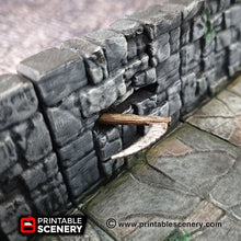 Load image into Gallery viewer, Scythe Heavy Wall Trap - 28mm 32mm Clorehaven Goblin Grotto Wargaming Terrain Scatter D&D DnD Pathfinder Warhammer 40k