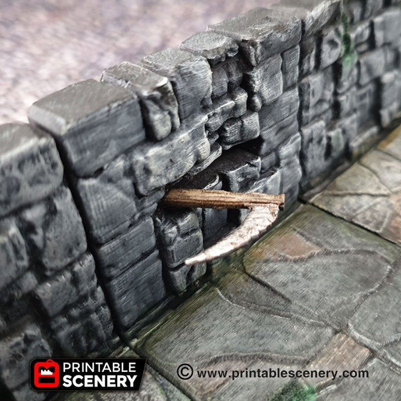 Scythe Heavy Wall Trap - 28mm 32mm Clorehaven Goblin Grotto Wargaming Terrain Scatter D&D DnD Pathfinder Warhammer 40k