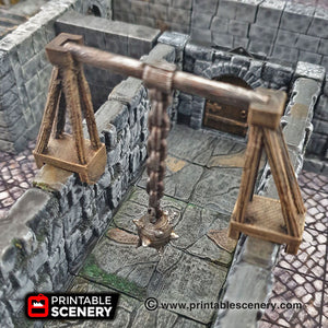 Swinging Mace Trap - 28mm Clorehaven and the Goblin Grotto Wargaming Terrain Scatter D&D DnD Pathfinder Warhammer 40k