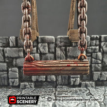 Load image into Gallery viewer, Swinging Trap Set - 28mm Clorehaven and the Goblin Grotto Wargaming Terrain Scatter D&D DnD Pathfinder Warhammer 40k