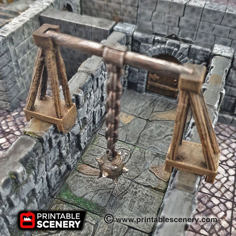 Swinging Trap Set - 28mm Clorehaven and the Goblin Grotto Wargaming Terrain Scatter D&D DnD Pathfinder Warhammer 40k