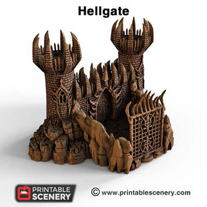 Hellgate - 15mm 28mm 32mm Clorehaven and Goblin Grotto Wargaming Terrain Scatter D&D, DnD, Pathfinder, Warhammer, 40k