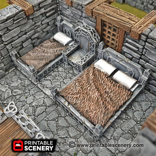 Sturdy Furniture - 28mm 32mm Clorehaven and Goblin Grotto Wargaming Terrain Scatter D&D, DnD, Pathfinder, Warhammer, 40k