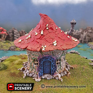 Goblin Mushroom Hovel - 15mm 28mm 32mm Clorehaven and the Goblin Grotto Wargaming Terrain Scatter D&D, DnD, Pathfinder, Warhammer, 40k