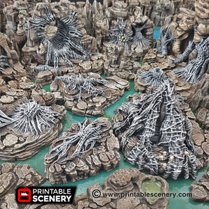 Wicked Webs - 15mm 28mm 32mm Clorehaven and the Goblin Grotto Wargaming Terrain Scatter D&D, DnD, Pathfinder, Warhammer, 40k