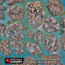 Load image into Gallery viewer, Wicked Webs - 15mm 28mm 32mm Clorehaven and the Goblin Grotto Wargaming Terrain Scatter D&D, DnD, Pathfinder, Warhammer, 40k