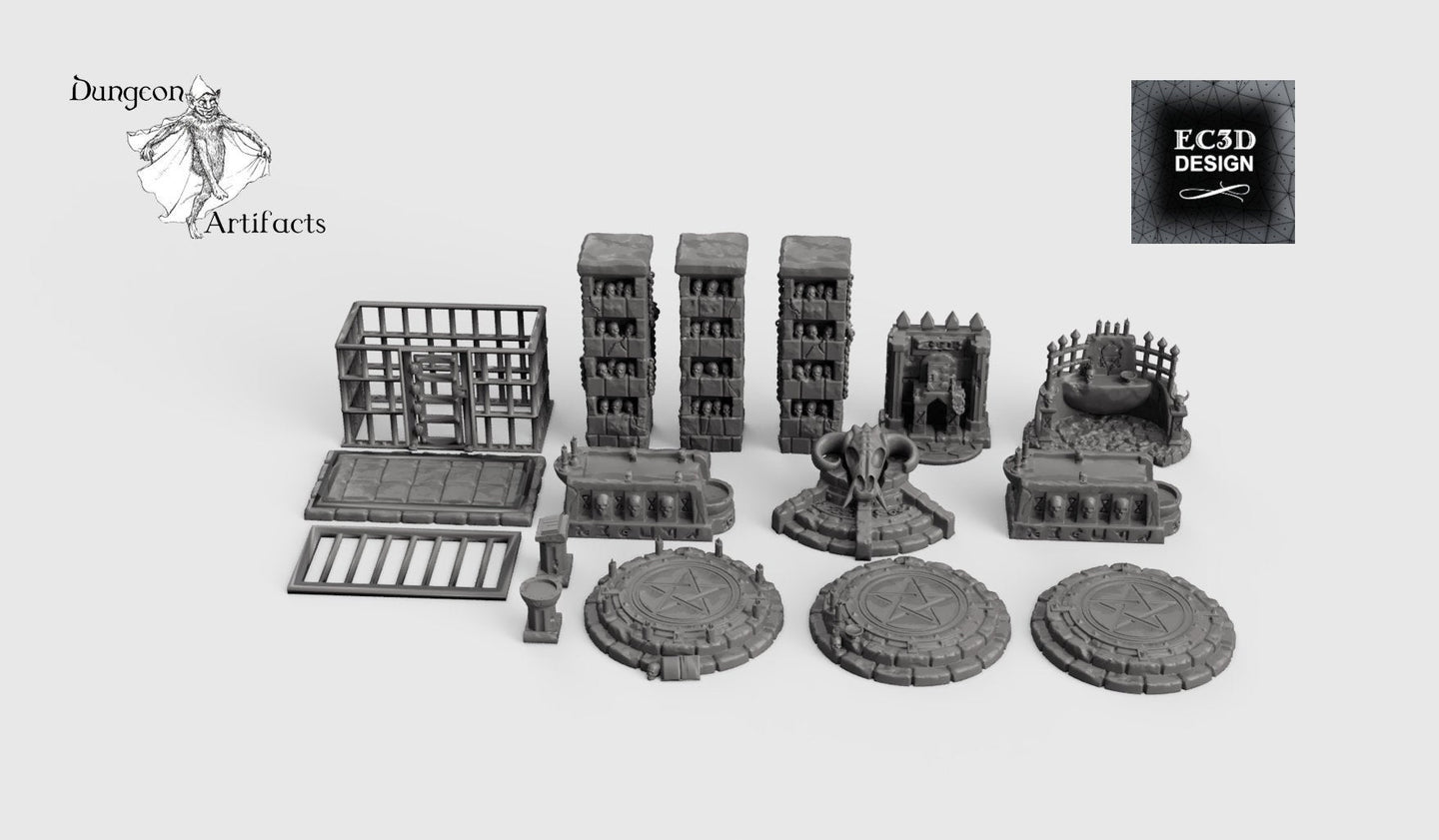 Occult and Evil Set - 28mm 32mm Hero's Hoard Wargaming Terrain D&D, DnD, Pathfinder, SW Legion, Warhammer