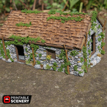 Load image into Gallery viewer, Old Stone Barn -  15mm 28mm 32mm Time Warp Wargaming Terrain Scatter D&D, DnD, Pathfinder, Warhammer, 40k