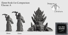 Load image into Gallery viewer, Ice Palace Thrones - 15mm 28mm 32mm Wilds of Wintertide Wargaming Terrain D&D, DnD, Pathfinder, SW Legion, Warhammer