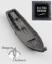 Load image into Gallery viewer, Fishing Boat and Gear - 15mm 28mm 32mm Wilds of Wintertide Wargaming Terrain D&D, DnD, Pathfinder, SW Legion, Warhammer