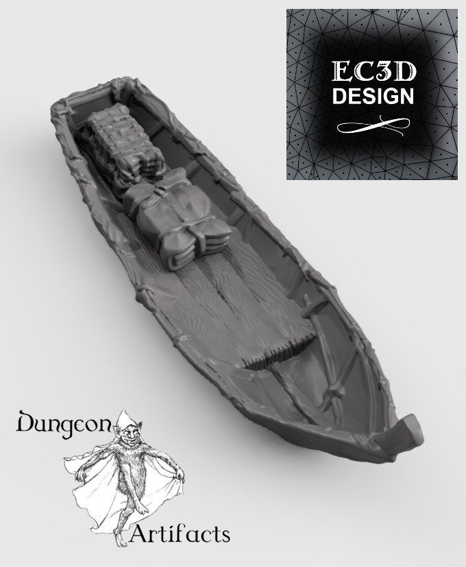 Fishing Boat and Gear - 15mm 28mm 32mm Wilds of Wintertide Wargaming Terrain D&D, DnD, Pathfinder, SW Legion, Warhammer