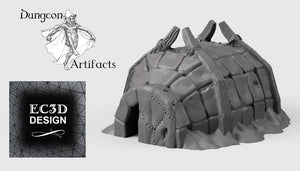 Hunter's Igloo - 15mm 28mm 32mm Wilds of Wintertide Wargaming Terrain D&D, DnD, Pathfinder, SW Legion, Warhammer