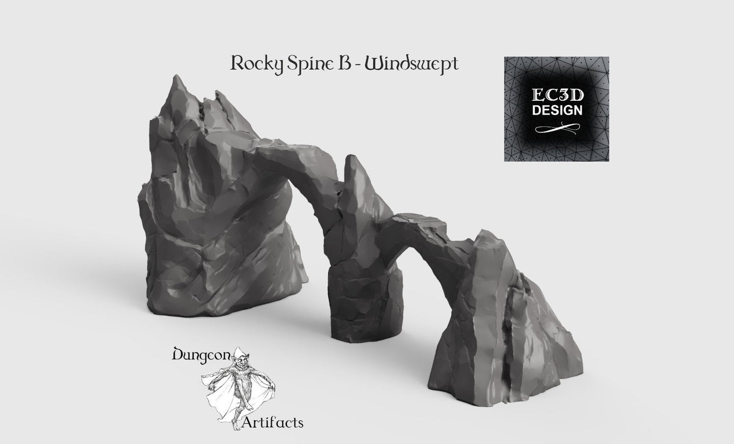 Rocky Spines - 15mm 28mm 32mm Wilds of Wintertide Wargaming Terrain D&D, DnD, Pathfinder, SW Legion, Warhammer