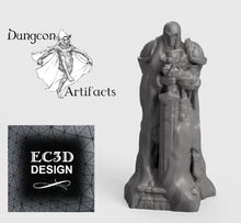 Load image into Gallery viewer, Wintertide Statue - 15mm 28mm 32mm Wilds of Wintertide Wargaming Terrain D&D, DnD, Pathfinder, SW Legion, Warhammer