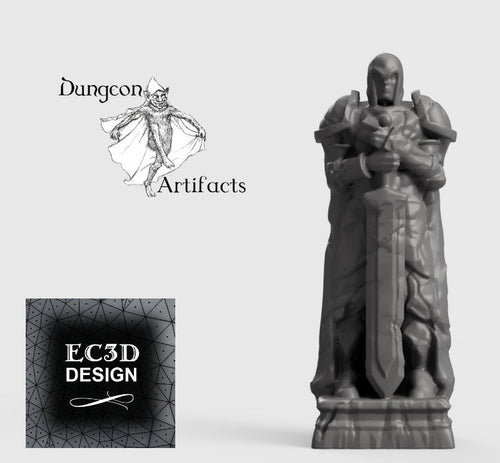 Wintertide Statue - 15mm 28mm 32mm Wilds of Wintertide Wargaming Terrain D&D, DnD, Pathfinder, SW Legion, Warhammer