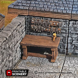 Smithy Tools - Smith Smitty 28mm 32mm Clorehaven and the Goblin Grotto Wargaming Terrain Scatter D&D, DnD, Pathfinder, Warhammer, 40k