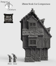 Load image into Gallery viewer, Medieval Home - 15mm 28mm 32mm City of Tarok Wargaming Terrain Scatter D&D DnD Pathfinder Warhammer 40k