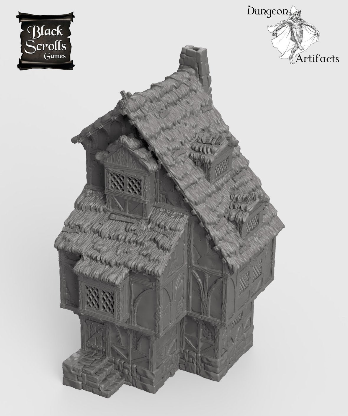 Medieval Home - 15mm 28mm 32mm City of Tarok Wargaming Terrain Scatter D&D DnD Pathfinder Warhammer 40k