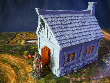 Load image into Gallery viewer, Little Cottage - 15mm 28mm 32mm City of Tarok Wargaming Terrain Scatter D&D DnD Pathfinder Warhammer 40k