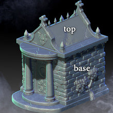 Load image into Gallery viewer, Mausoleum and Tombstones - 15mm 28mm 32mm City of Tarok Wargaming Terrain Scatter D&D DnD Pathfinder Warhammer 40k