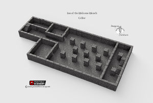Inn of the Welcome Wench Cellar - Basement 28mm Clorehaven and the Goblin Grotto Wargaming Terrain D&D, DnD, Pathfinder, RPG, Warhammer 40k