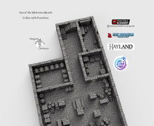 Load image into Gallery viewer, Inn of the Welcome Wench Cellar - Basement 28mm Clorehaven and the Goblin Grotto Wargaming Terrain D&D, DnD, Pathfinder, RPG, Warhammer 40k