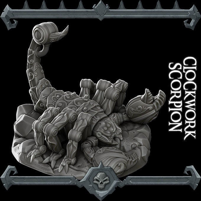 Clockwork Scorpion - Wargaming Miniatures Monster Rocket Pig Games D&D, DnD, Pathfinder, SW Legion, Warhammer