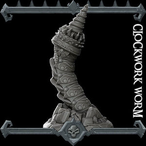 Clockwork Worm - Wargaming Miniatures Monster Rocket Pig Games D&D, DnD, Pathfinder, SW Legion, Warhammer