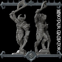 Load image into Gallery viewer, Minotaur Gladiator - Wargaming Miniatures Monster Rocket Pig Games D&D, DnD, Pathfinder, SW Legion, Warhammer