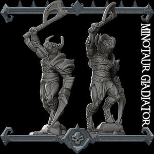 Minotaur Gladiator - Wargaming Miniatures Monster Rocket Pig Games D&D, DnD, Pathfinder, SW Legion, Warhammer