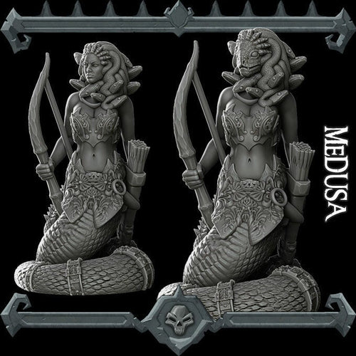 Medusa - Wargaming Miniatures Monster Rocket Pig Games D&D, DnD, Pathfinder, SW Legion, Warhammer