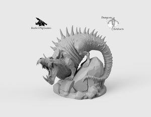 Giant Dreg Rat - Wargaming Miniatures Monster Rocket Pig Games D&D, DnD, Pathfinder, SW Legion, Warhammer