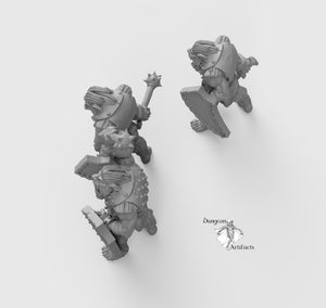 Bug Bears with Maces - Wargaming Miniatures Monsters D&D, DnD, Pathfinder, SW Legion, Warhammer