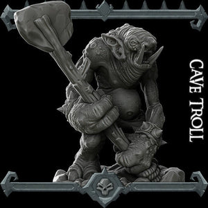 Cave Troll - Wargaming Miniatures Monster Rocket Pig Games D&D, DnD, Pathfinder, SW Legion, Warhammer