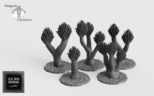 Yucca Trees - 28mm 32mm Empire of Scorching Sands Wargaming Terrain D&D, DnD, Pathfinder, SW Legion, Warhammer