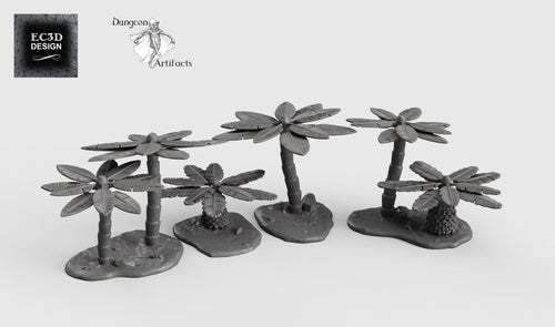 Palm Trees - 15mm 28mm 32mm Empire of Scorching Sands Wargaming Terrain D&D, DnD, Pathfinder, SW Legion, Warhammer
