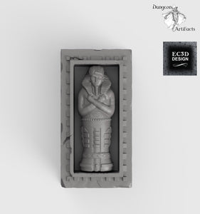 Egyptian Sarcophagus - 28mm 32mm Empire of Scorching Sands Wargaming Terrain D&D, DnD, Pathfinder, SW Legion, Warhammer