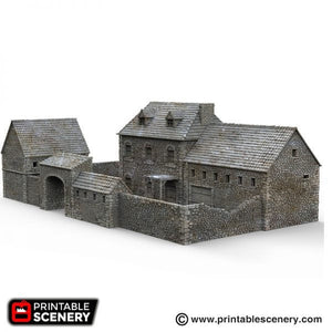 The Farm -  15mm 28mm 32mm Time Warp Wargaming Terrain Scatter D&D, DnD, Pathfinder, Warhammer, 40k