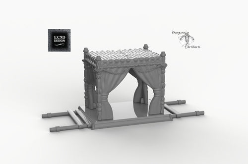 Palanquin - 28mm 32mm Empire of Scorching Sands Wargaming Terrain D&D, DnD, Pathfinder, SW Legion, Warhammer