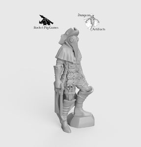 Plague Doctor with Saw - Wargaming Miniatures Monster Rocket Pig Games D&D, DnD, Pathfinder, SW Legion, Warhammer