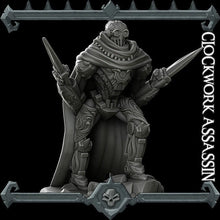 Load image into Gallery viewer, Clockwork Assassin - Wargaming Miniatures Monster Rocket Pig Games D&D, DnD, Pathfinder, SW Legion, Warhammer