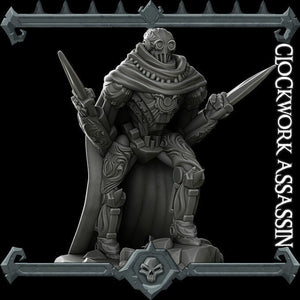 Clockwork Assassin - Wargaming Miniatures Monster Rocket Pig Games D&D, DnD, Pathfinder, SW Legion, Warhammer