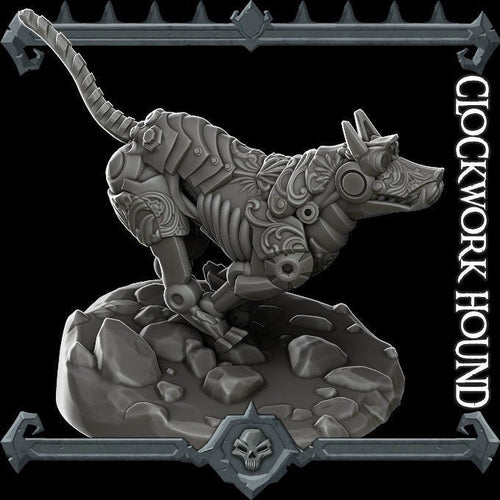 Clockwork Hound - Wargaming Miniatures Monster Rocket Pig Games D&D, DnD, Pathfinder, SW Legion, Warhammer