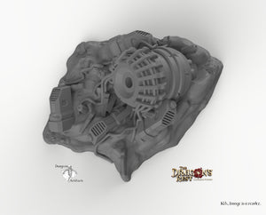 Destroyed Sci-Fi Generator - 15mm 28mm 32mm Dragon's Rest Wargaming Terrain Scatter D&D DnD Pathfinder Warhammer 40k